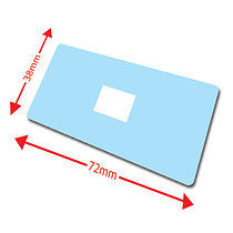 Pack of 100 Light Blue 72mm x 38mm Large Library Labels