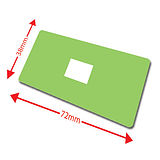 Pack of 100 Light Green 72mm x 38mm Large Library Labels