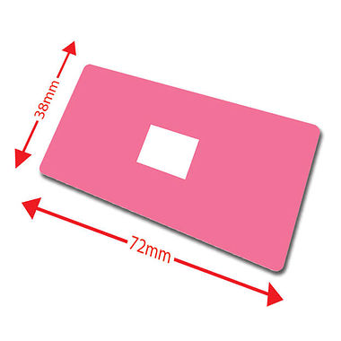 Pack of 100 Pink 72mm x 38mm Large Library Labels