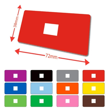 Library Lables - Available in 12 colours (100 labels - 72mm x 38mm)
