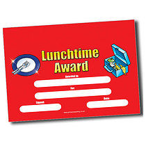 Personalised A5 Lunchtime Award Certificates
