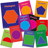 Pack of 10 A4 Numeracy Polygons Card Posters