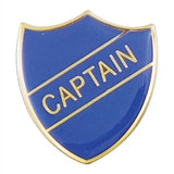 Captain Enamel Badge - Blue (30mm x 26.4mm)