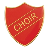 Choir Enamel Badge - Red (30mm x 26.4mm)