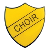 Choir Enamel Badge - Yellow (30mm x 26.4mm)