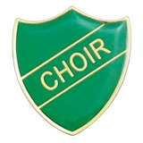Choir Enamel Badge - Green (30mm x 26.4mm)