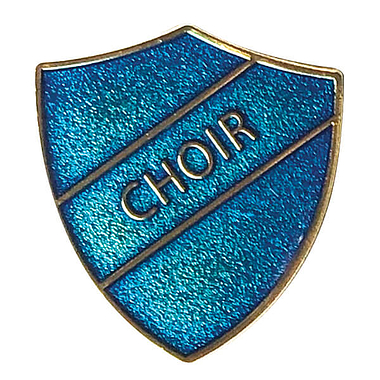 Choir Enamel Badge - Blue (30mm x 26.4mm)
