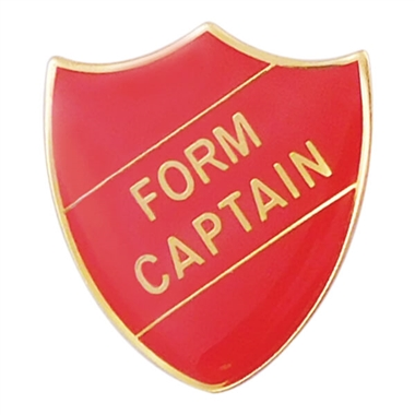 Form Captain Enamel Badge - Red (30mm x 26.4mm)