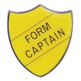 Form Captain Enamel Badge - Yellow (30mm x 26.4mm)
