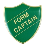 Form Captain Enamel Badge - Green (30mm x 26.4mm)