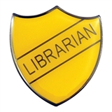 Librarian Enamel Badge - Yellow (30mm x 26.4mm)