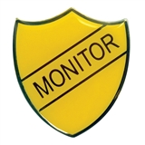 Monitor Enamel Badge - Yellow (30mm x 26.4mm)