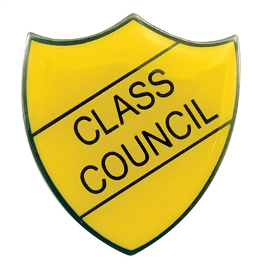 Class Council Enamel Badge - Yellow (30mm x 26.4mm)