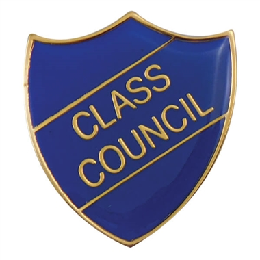 Class Council Enamel Badge - Blue (30mm x 26.4mm)