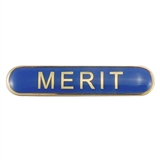 Merit Enamel Badge - Blue (45mm x 9mm)