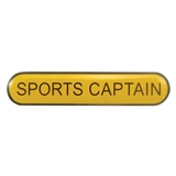 Sports Captain Enamel Badge - Yellow (45mm x 9mm)