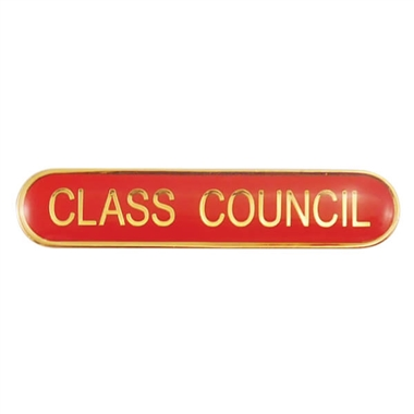 Class Council Enamel Badge - Red (45mm x 9mm)