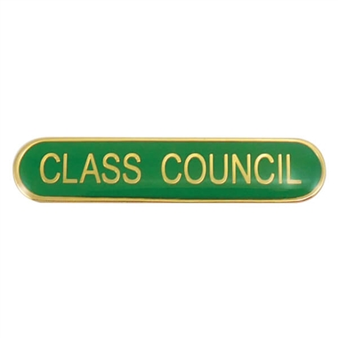 Class Council Enamel Badge - Green (45mm x 9mm)
