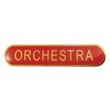 Orchestra Enamel Badge - Red (45mm x 9mm)