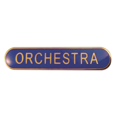 Orchestra Enamel Badge - Blue (45mm x 9mm)