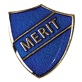 Merit Shield Badge - Enamel (Blue)