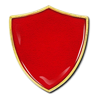 Shield Badge - Enamel (Red)