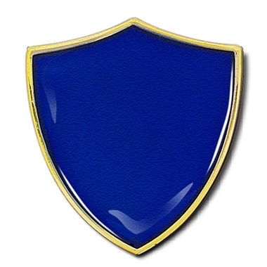 Shield Badge - Enamel (Blue)