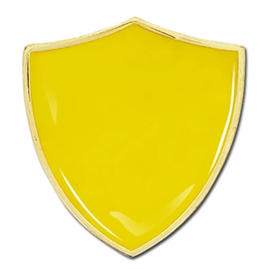 Shield Badge - Enamel (Yellow)