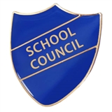 School Council Enamel Shield Badge - Blue