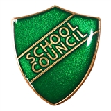 School Council Enamel Shield Badge - Green