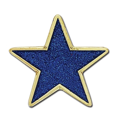 Glitter Star Badge - Blue