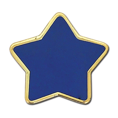 Enamel Star Badge - Blue