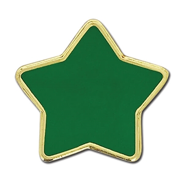 Enamel Star Badge - Green