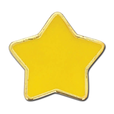 Enamel Star Badge - Yellow