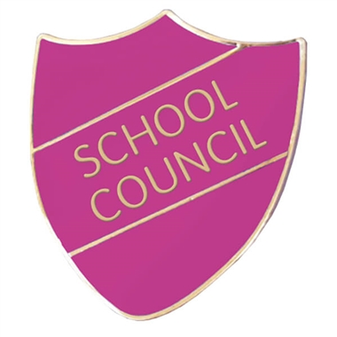 School Council Enamel Shield Badge - Orchid