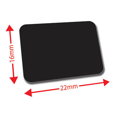 Sheet of 120 Black 22mm x 16mm Mini Library Labels