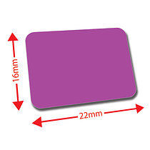 Sheet of 120 Purple 22mm x 16mm Mini Library Labels