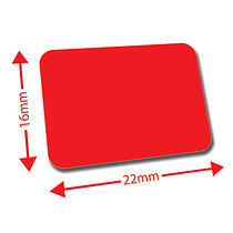 Sheet of 120 Red 22mm x 16mm Mini Library Labels