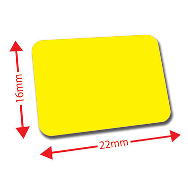 Sheet of 120 Yellow 22mm x 16mm Mini Library Labels
