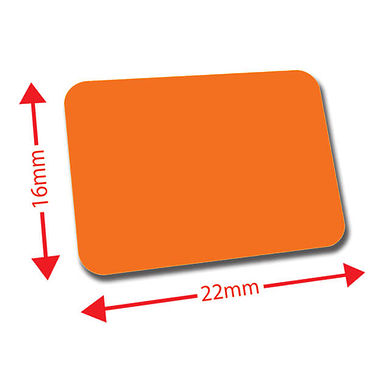 Sheet of 120 Orange 22mm x 16mm Mini Library Labels