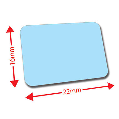 Sheet of 120 Light Blue 22mm x 16mm Mini Library Labels