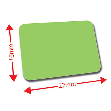 Sheet of 120 Light Green 22mm x 16mm Mini Library Labels
