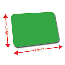 Sheet of 120 Dark Green 22mm x 16mm Mini Library Labels