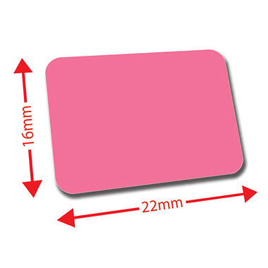 Mini Library Labels - Pink (120 Labels - 22mm x 16mm)