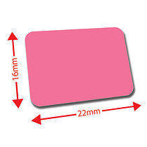 Sheet of 120 Pink 22mm x 16mm Mini Library Labels