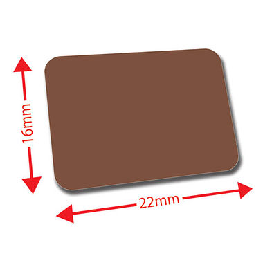 Mini Library Labels - Brown (120 Labels - 22mm x 16mm)