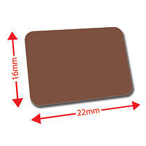 Sheet of 120 Brown 22mm x 16mm Mini Library Labels