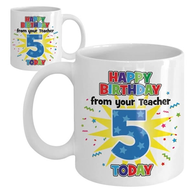 Happy Birthday Ceramic Mug - 5 Today