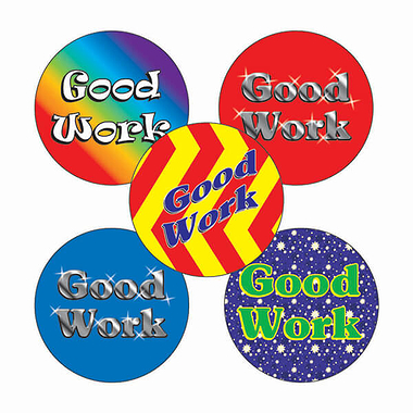 Good Work Stickers (70 Stickers - 25mm)