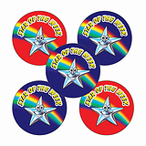 Sheet of 70 Mixed Star of the Week 25mm Stickers